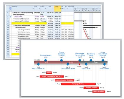 Gantt chart template by Office Timeline