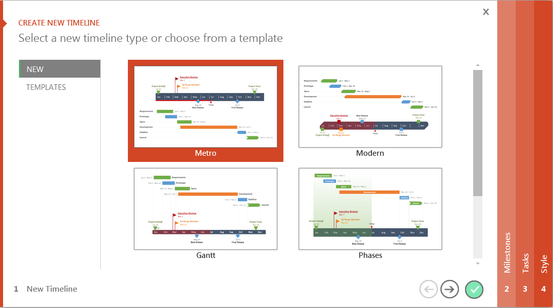 PowerPoint template tool from timeline maker Office Timline
