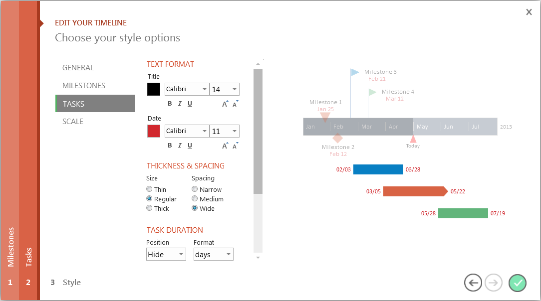 Make a timeline in PowerPoint _Style Wizard