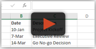 Paste from Excel into PowerPoint Timeline Maker