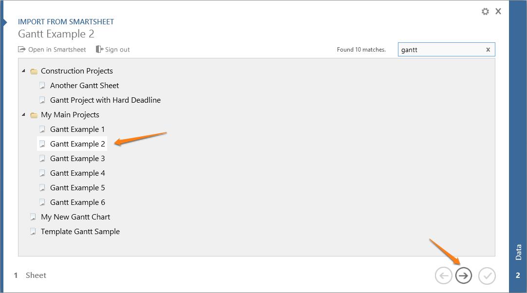 Import Smartsheet reports into PowerPoint