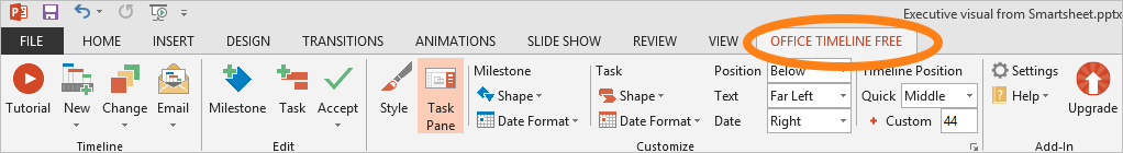 Project software for PowerPoint