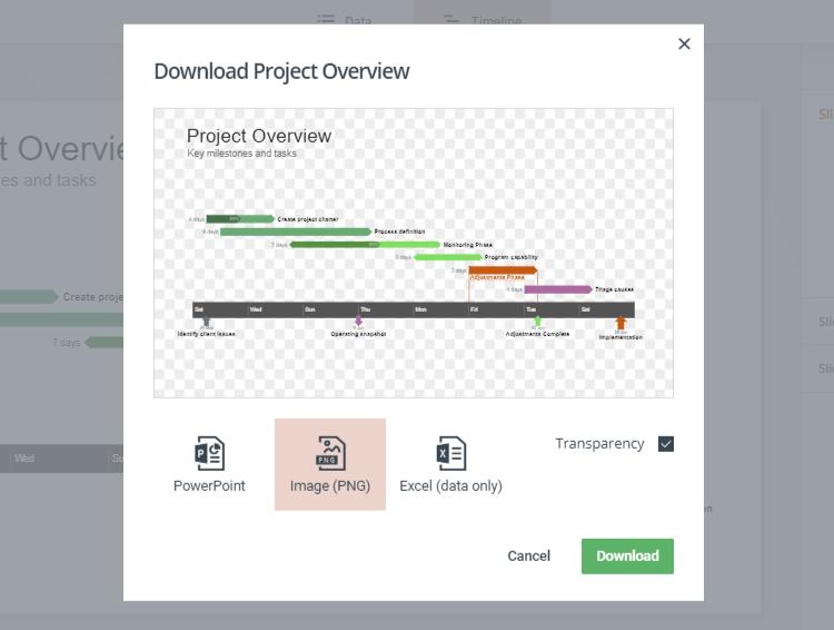 Export Your Online Gantt Chart for Free